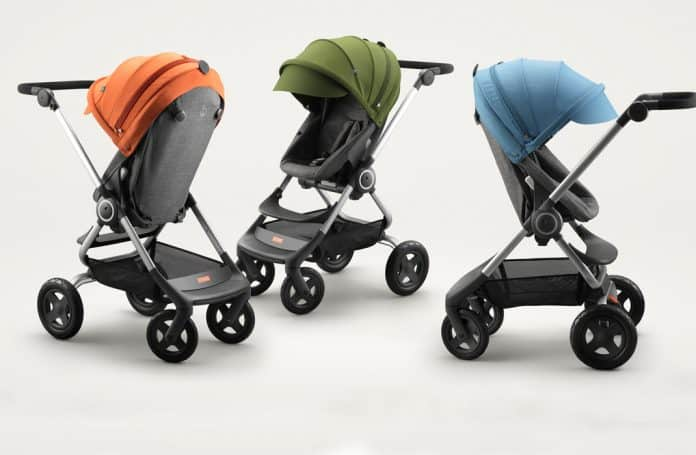 Some of the Stokke strollers covered in this Stokke stroller review | Baby Journey