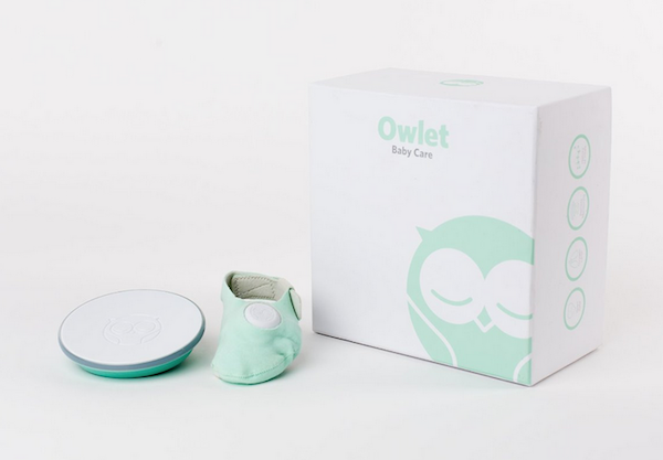 The signature base station and smart sock. - Owlet Baby Monitor Review | Baby Journey