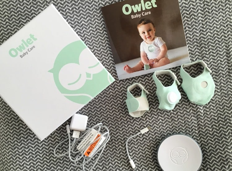 The complete Owlet Baby Monitor set. - Owlet Baby Monitor Review | Baby Journey