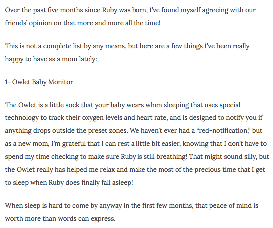 Owlet Baby Monitor Review | Baby Journey