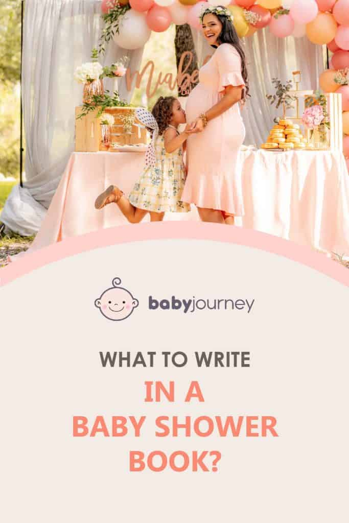 What to write in a baby shower book   Baby Journey