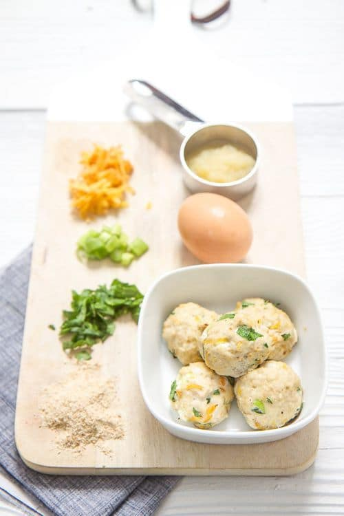 Mini-chicken and carrot meatballs. -Baby-Led Weaning Chicken Recipes | Baby Journey