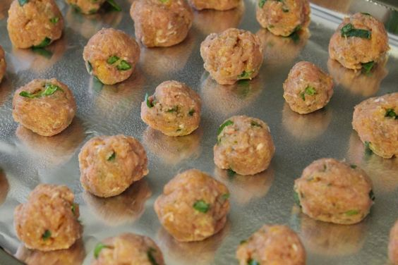 Chicken meatballs for baby-led weaning. - Baby-Led Weaning Chicken Recipes | Baby Journey