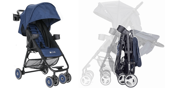 The Zoe XL-1 is compact after folding.  - Zoe Umbrella XL1 Single Stroller Review | Baby Journey