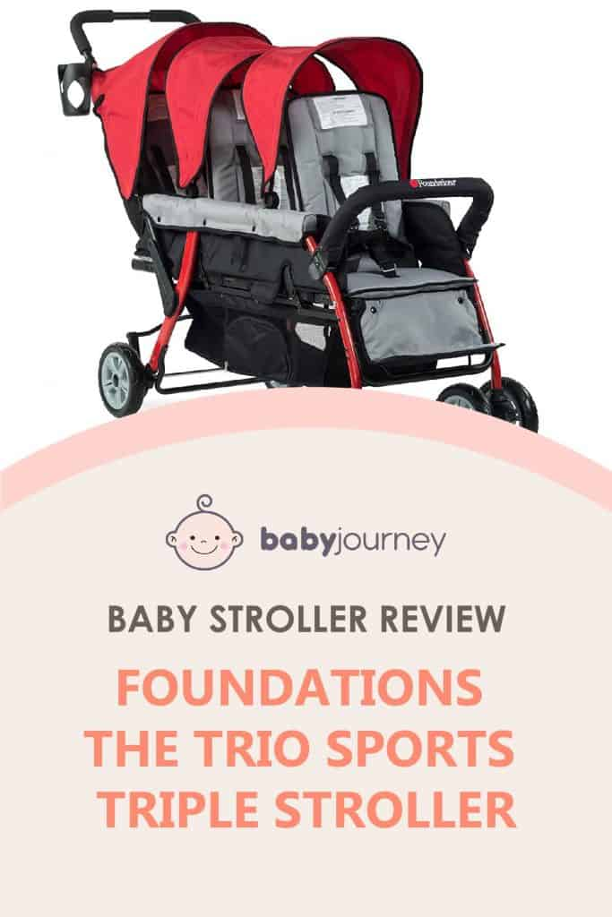 Foundations The Trio Sports Triple Tandem Stroller Review   Baby Journey