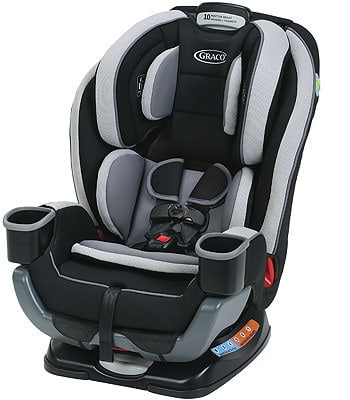 The Graco Extend2Fit stays true to its name by allowing you to extend different parts of the seat to accommodate growing children.