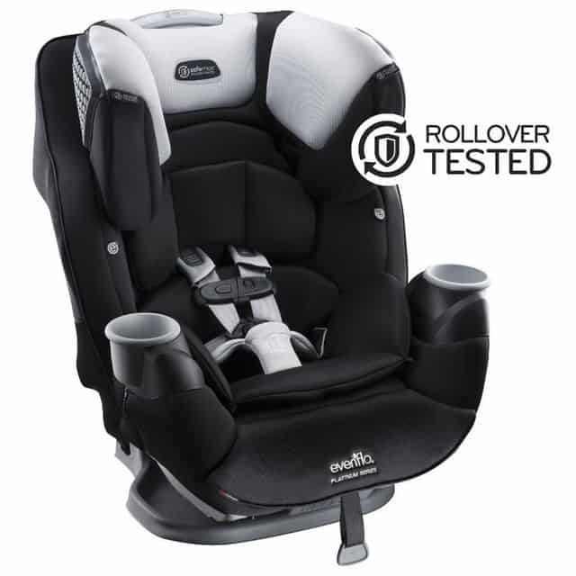 With a large build comes a large capacity as this car seat can accommodate babies up to 120 lbs in weight.