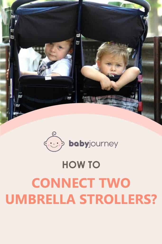 How to Connect Two Umbrella Strollers   Baby Journey