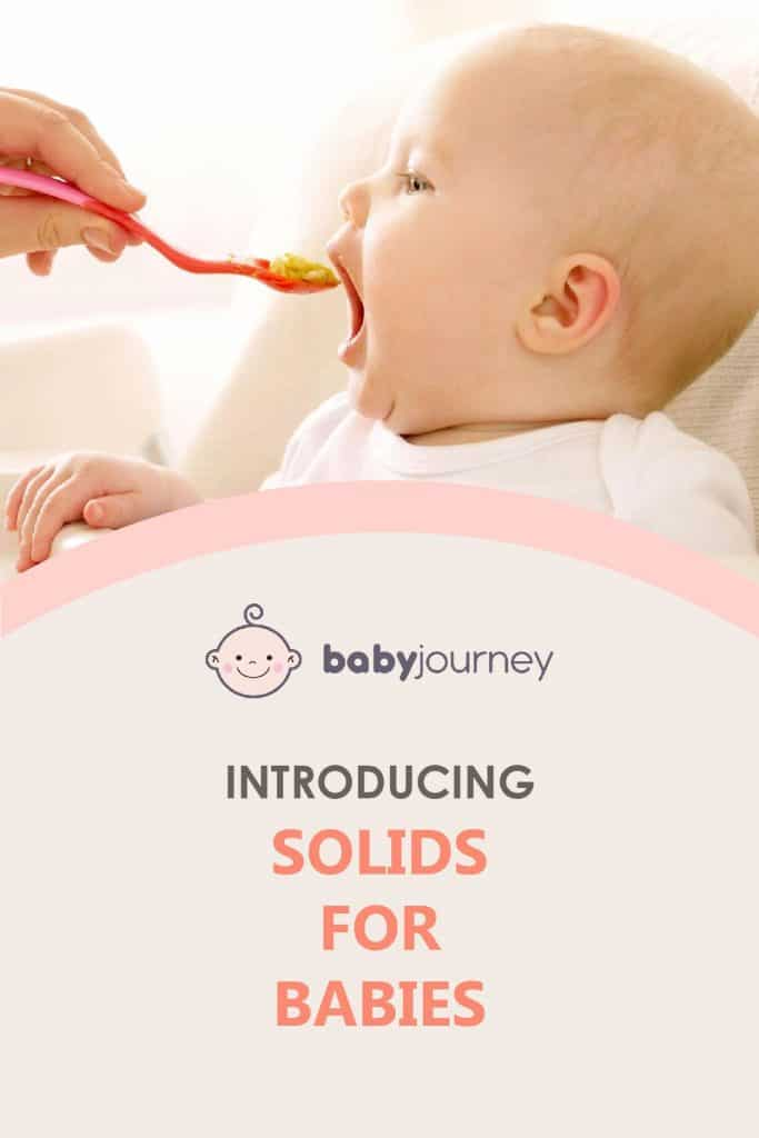 Introducing Solids For Babies | Baby Journey