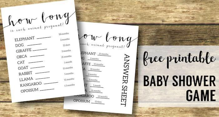 You can find free printables or make your own if you are throwing a baby shower game on a budget.