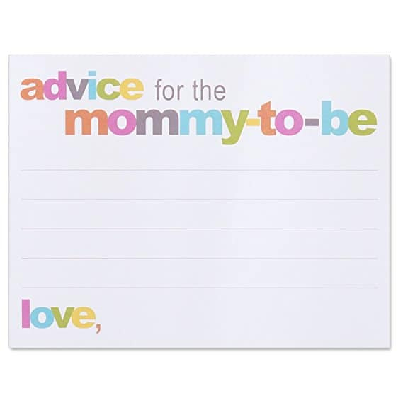 This fun game will give momma funny and sentimental advice.