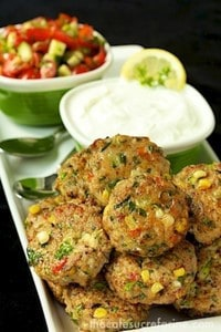 ​Chicken, zucchini, and fresh corn burgers. -Baby-Led Weaning Chicken Recipes | Baby Journey