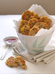 Chicken and corn patties. -Baby-Led Weaning Chicken Recipes | Baby Journey