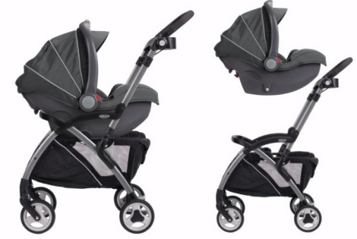 The SnugRide Elite is compatible with any Click Connect stroller (Source: Lucie's List)