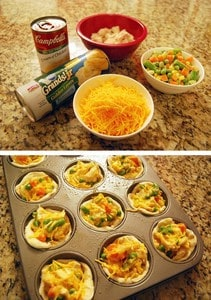​Chicken pot pie cupcakes. -Baby-Led Weaning Chicken Recipes | Baby Journey