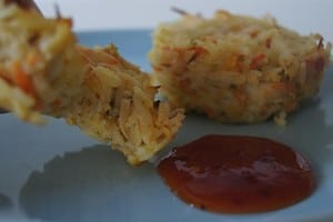 Chicken and rice patties. -Baby-Led Weaning Chicken Recipes | Baby Journey