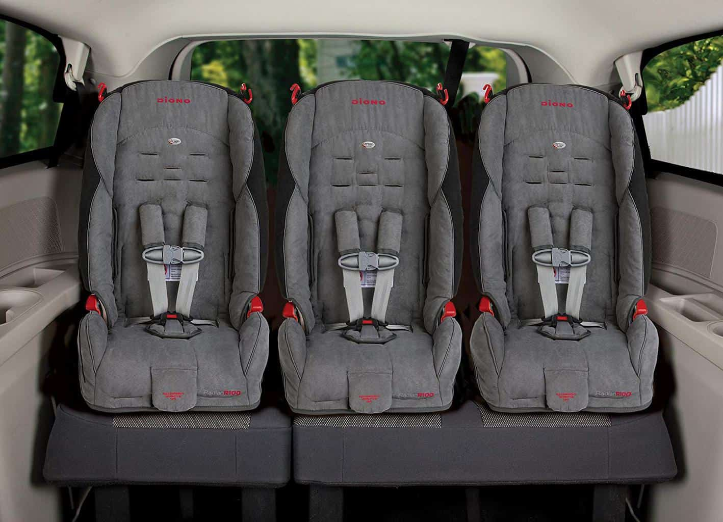 Some car seats are narrow enough to fit three across in your car