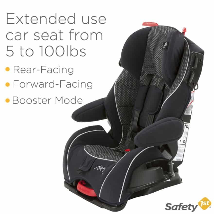 The ​Safety 1st Alpha Omega Elite Car Seat Reviews has a wide weight range and three installation modes (Source: Safety 1st)