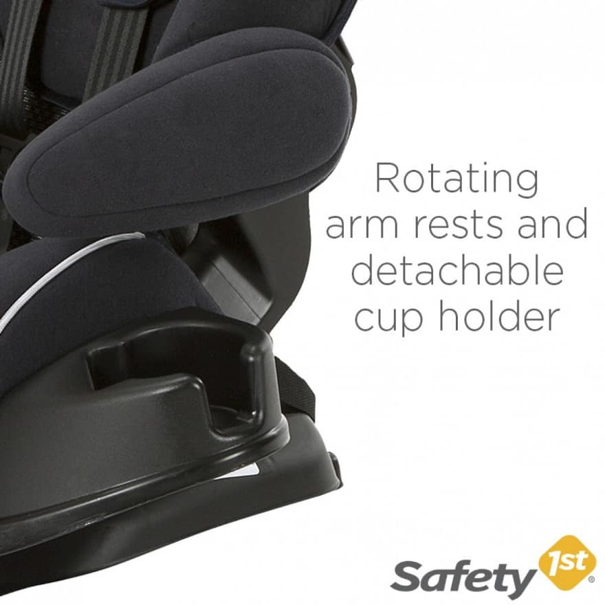 The Alpha Omega Elite has rotating armrests (Source: Safety 1st)
