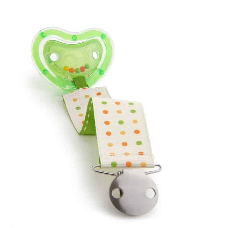 A good strap is a must to keep the pacifier from falling to the ground. (Source: Munchkin)