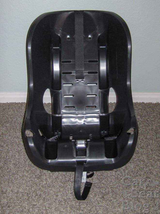 Just remove the entire cover on the Evenflo SureRide DLX to clean it (Source: Car Seat Blog)