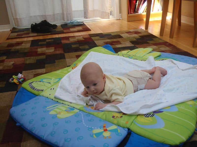 The best baby play mat that supports tummy times is a big plus.  - Best Baby Play Mat | Baby Journey