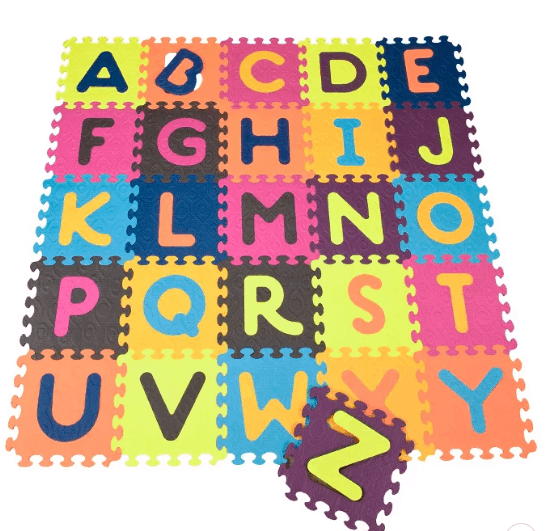 Foam play mats are easy to wipe clean. - Non-toxic Play Mat   Baby Journey