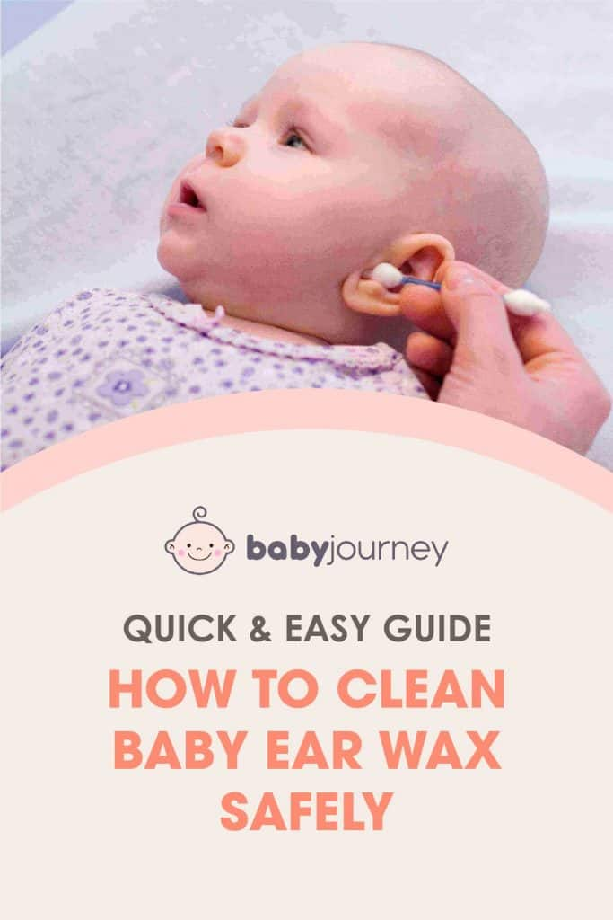 how to clean baby ear wax