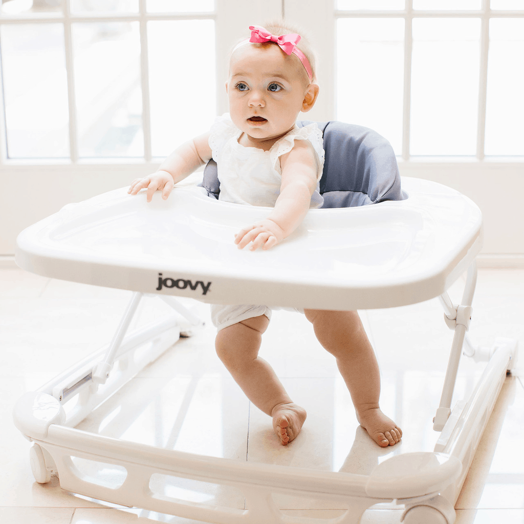 Some baby walkers come with adjustable seat height. - Best Baby Walker for Carpet | Baby Journey