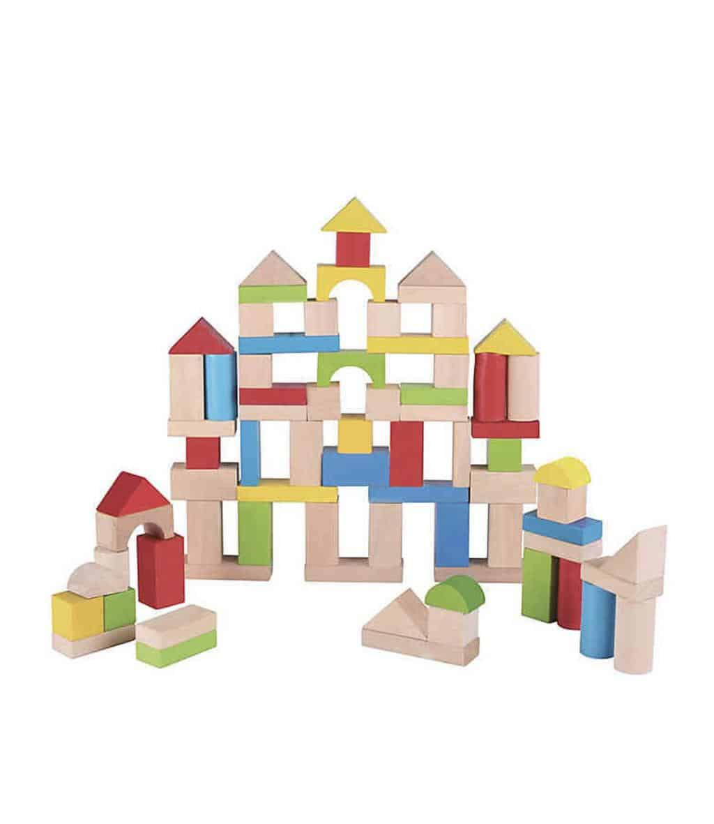 Building blocks are among the best educational toys for 2 years old that support imaginative play. - Best Educational Toys for 2-Year-Old   Baby Journey