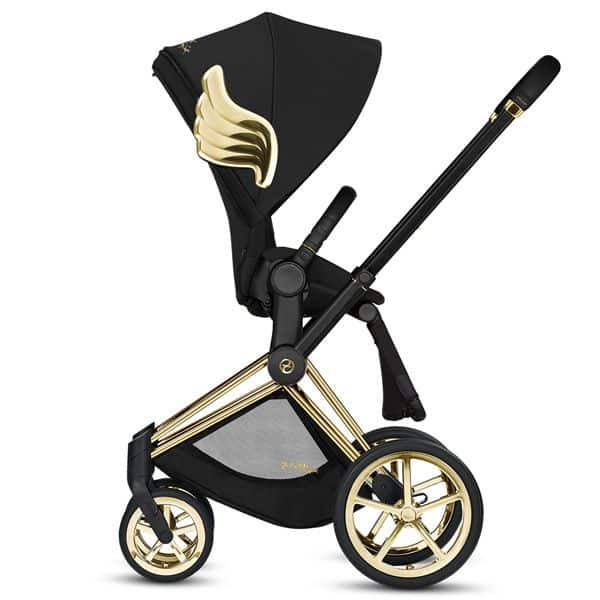 One look at the shiny design of this Cybex stroller and you know this best luxury stroller doesn't skimp on its materials. - Best Luxury Stroller | Baby Journey