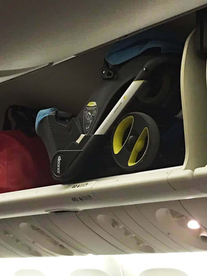 Some best double stroller for travel is compact enough to fit into the overhead compartment in airplanes. - Best Double Stroller for Travel | Baby Journey