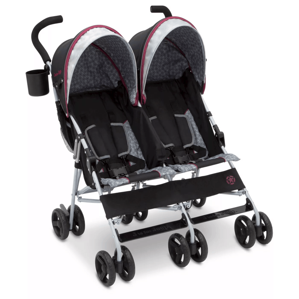 Umbrella strollers are lightweight, perfect as the best double stroller for travel. - Best Double Stroller for Travel | Baby Journey