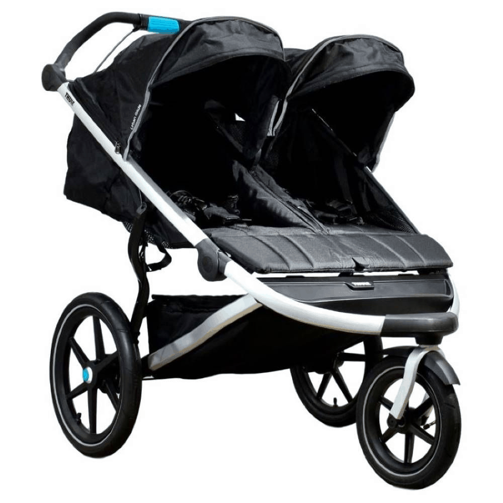 Air-filled tires are best for jogging and running over various terrains. - Best Double Jogging Stroller | Baby Journey