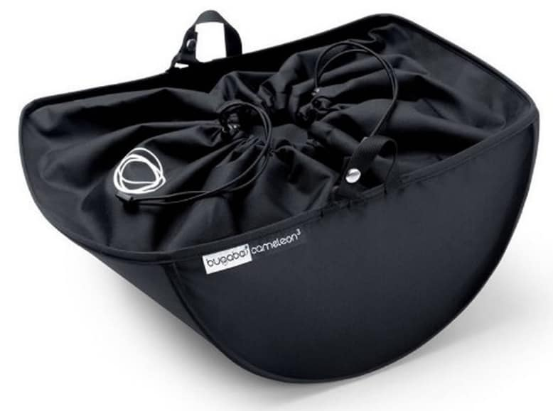 The drawstring underseat basket keeps your baby items secure. - Bugaboo Cameleon 3 Review | Baby Journey