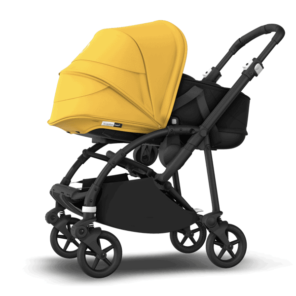 Front view of the new Bugaboo Bee 6 with bassinet. - Bugaboo Bee 6 Review | Baby Journey