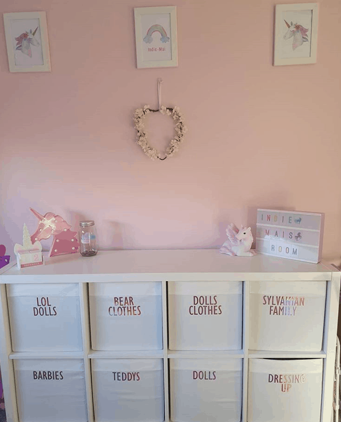 Canvas Storage Bins with labels!