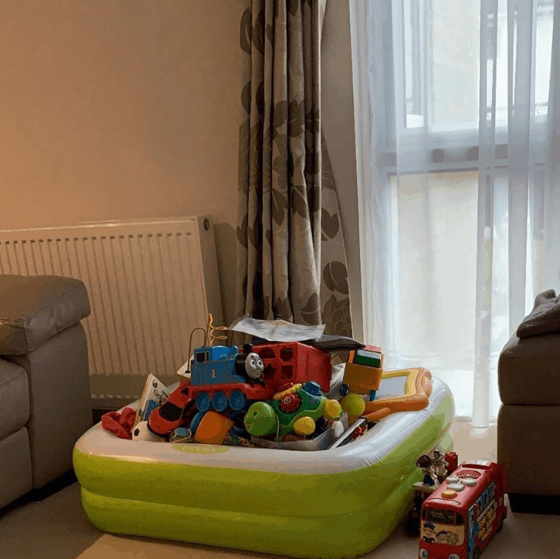 An Inflatable Pool for Toys