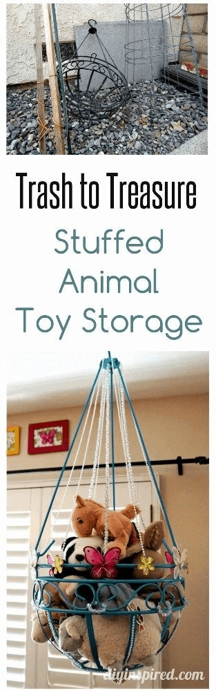 Hanging Planter Storage for Stuffed Animal Toy Storage