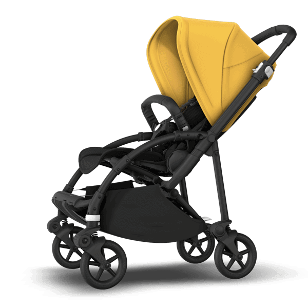 The sleek Bugaboo Bee 6 stroller offers easy navigation in the city.  - Bugaboo Bee 6 Review | Baby Journey