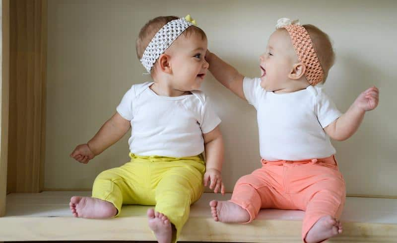 Having twins doesn't necessarily mean you have to double everything. - How Many Burp Cloths Do I Need | Baby Journey