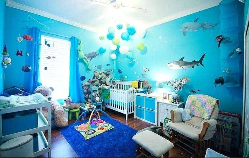 The marine theme is full of fun and never grows old.  - Baby Boy Nursery Ideas   Baby Journey