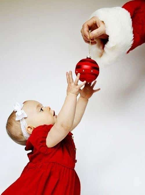 Baby Christmas Picture Ideas - Toddler and Santa Picture