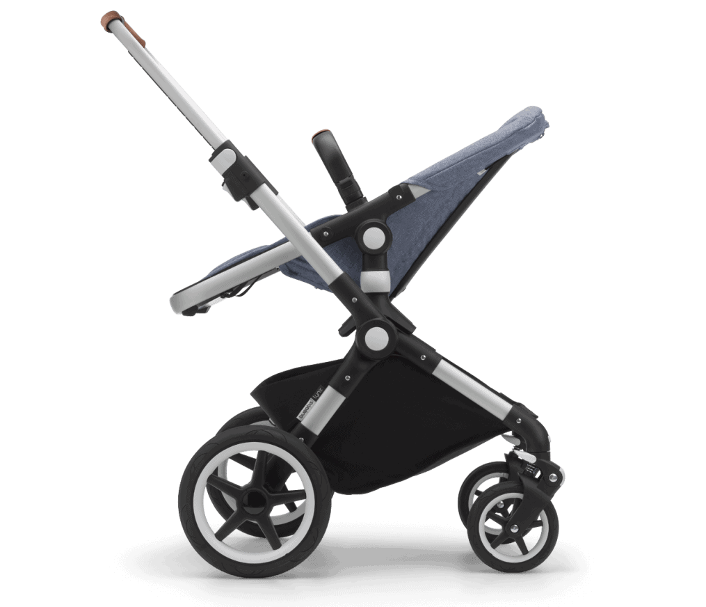 Ergonomic handle with one-handed steering. - Bugaboo Lynx Stroller Review | Baby Journey