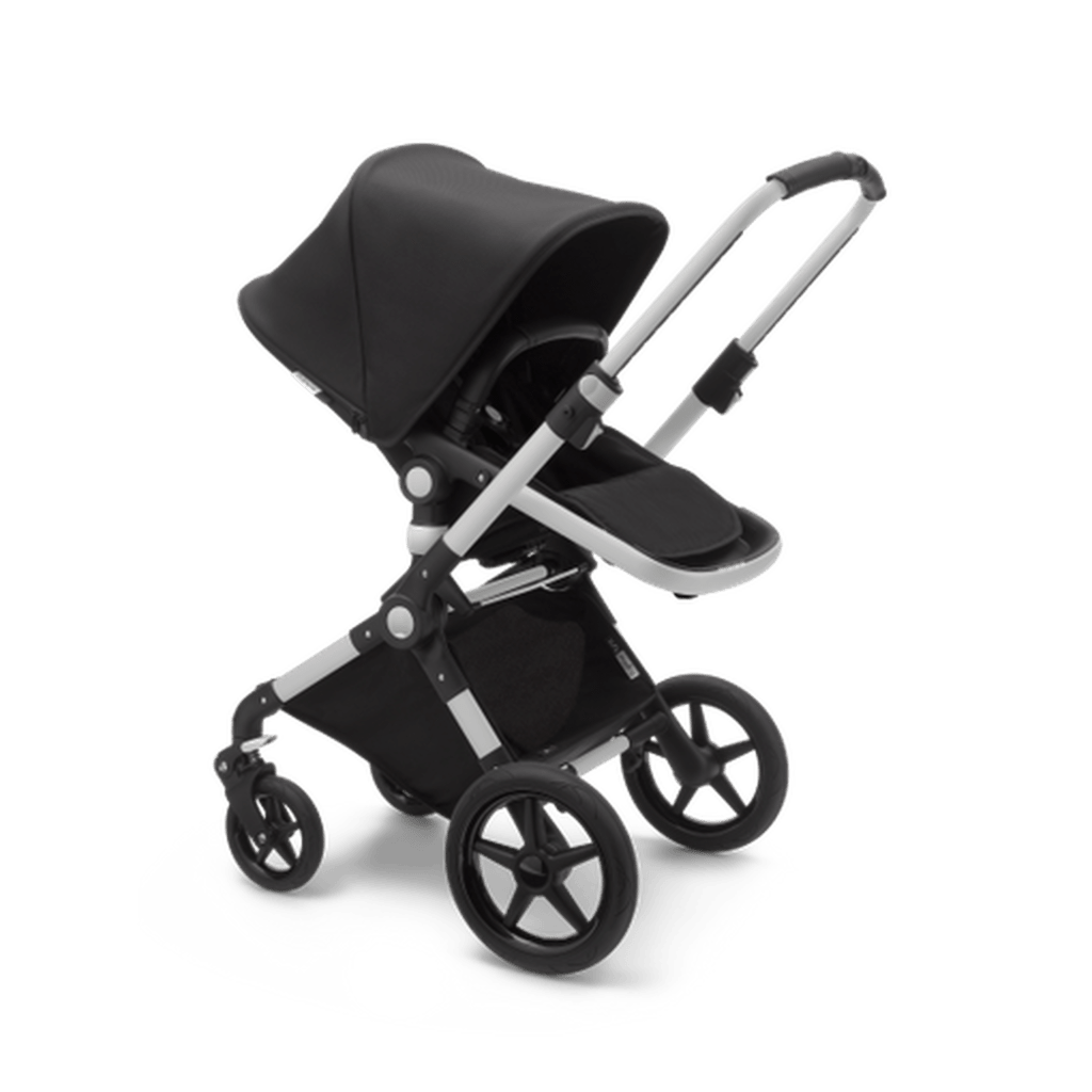 Bugaboo Lynx Stroll features sturdy rear wheels that ensure a smoother stroll on all sorts of tricky surfaces. - Bugaboo Lynx Stroller Review | Baby Journey
