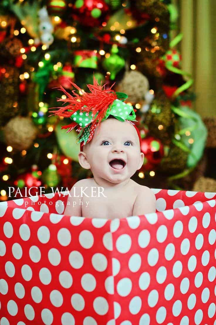 Gentry. 6 Months. | Baby christmas photos, Christmas baby pictures,  Christmas photoshoot