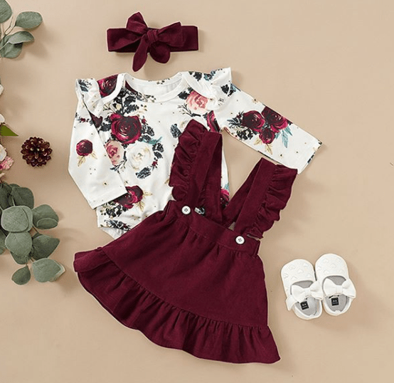 practical christmas present for baby - a fancy outfit for christmas photography session