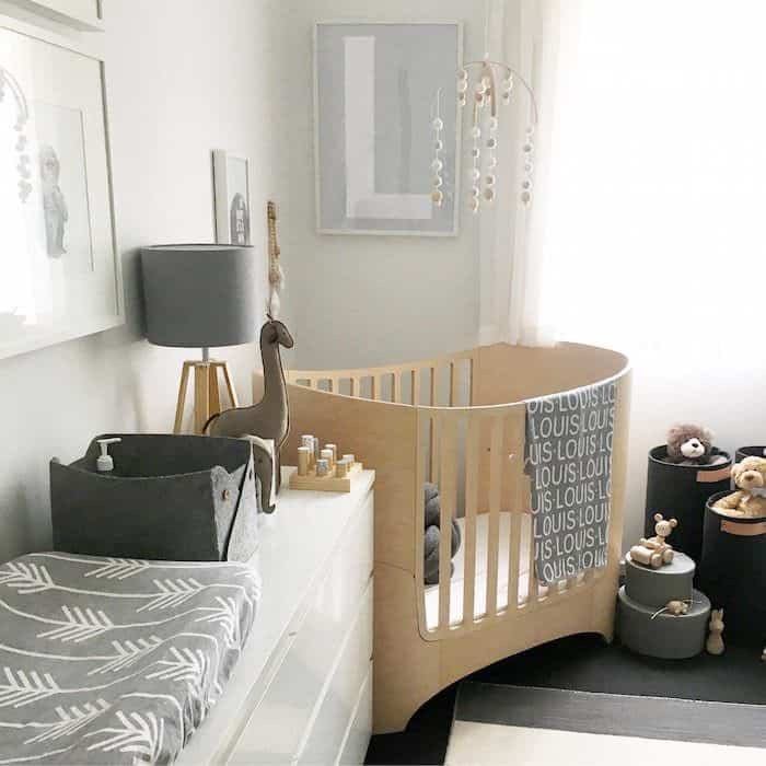 Scandinavian chic means plenty of soft elements like throws and cushions. - Baby Boy Nursery Ideas   Baby Journey