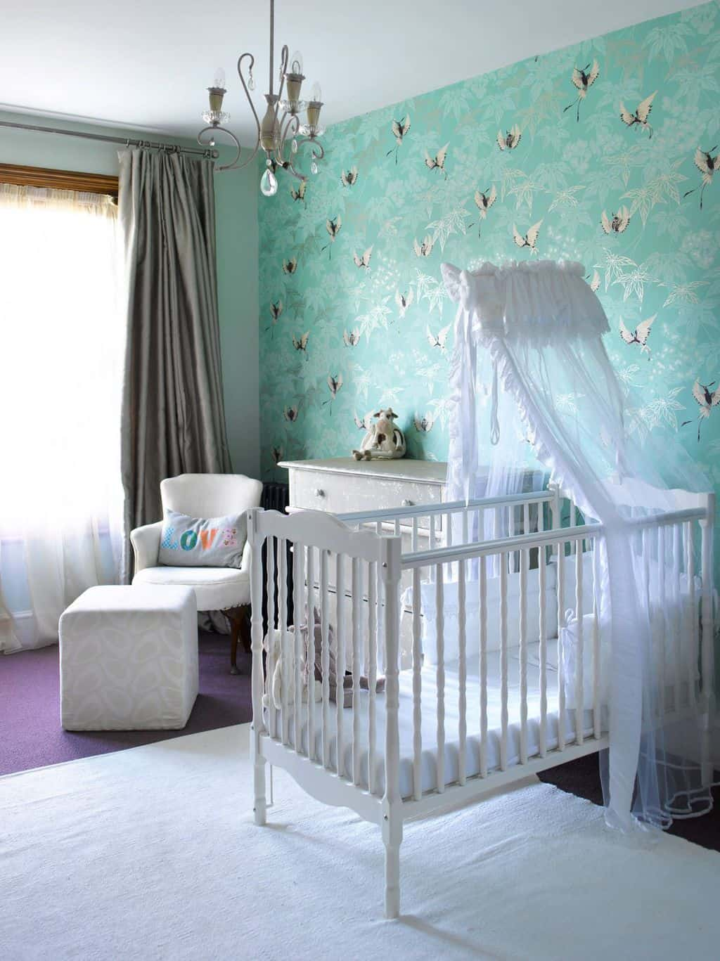 calming blue as baby boy room painting color