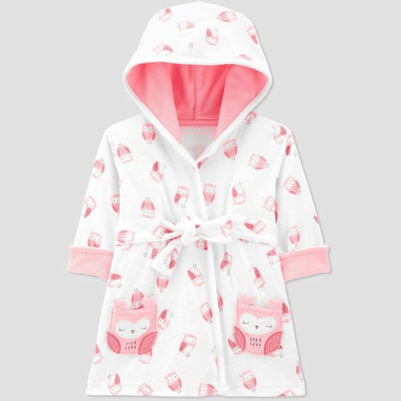 a mini bath robe for a great first christmas for baby